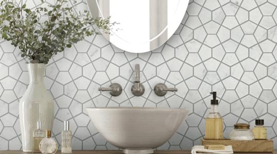 Washbasin area tiles | The Floor Store