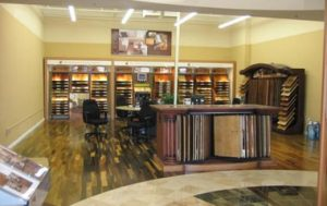Variety of flooring products in showroom | The Floor Store